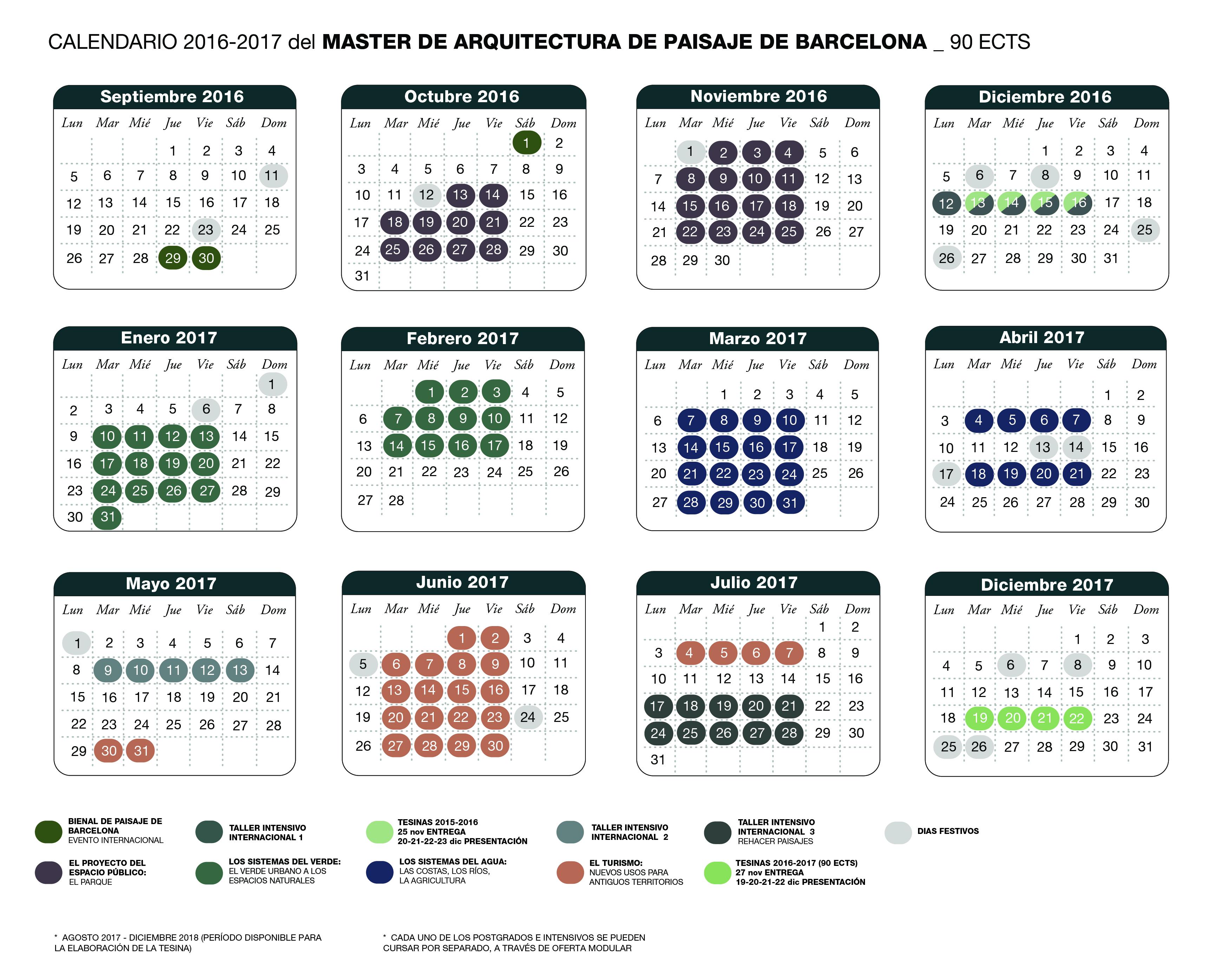 calendari map general 2016-2017 90 ECTS