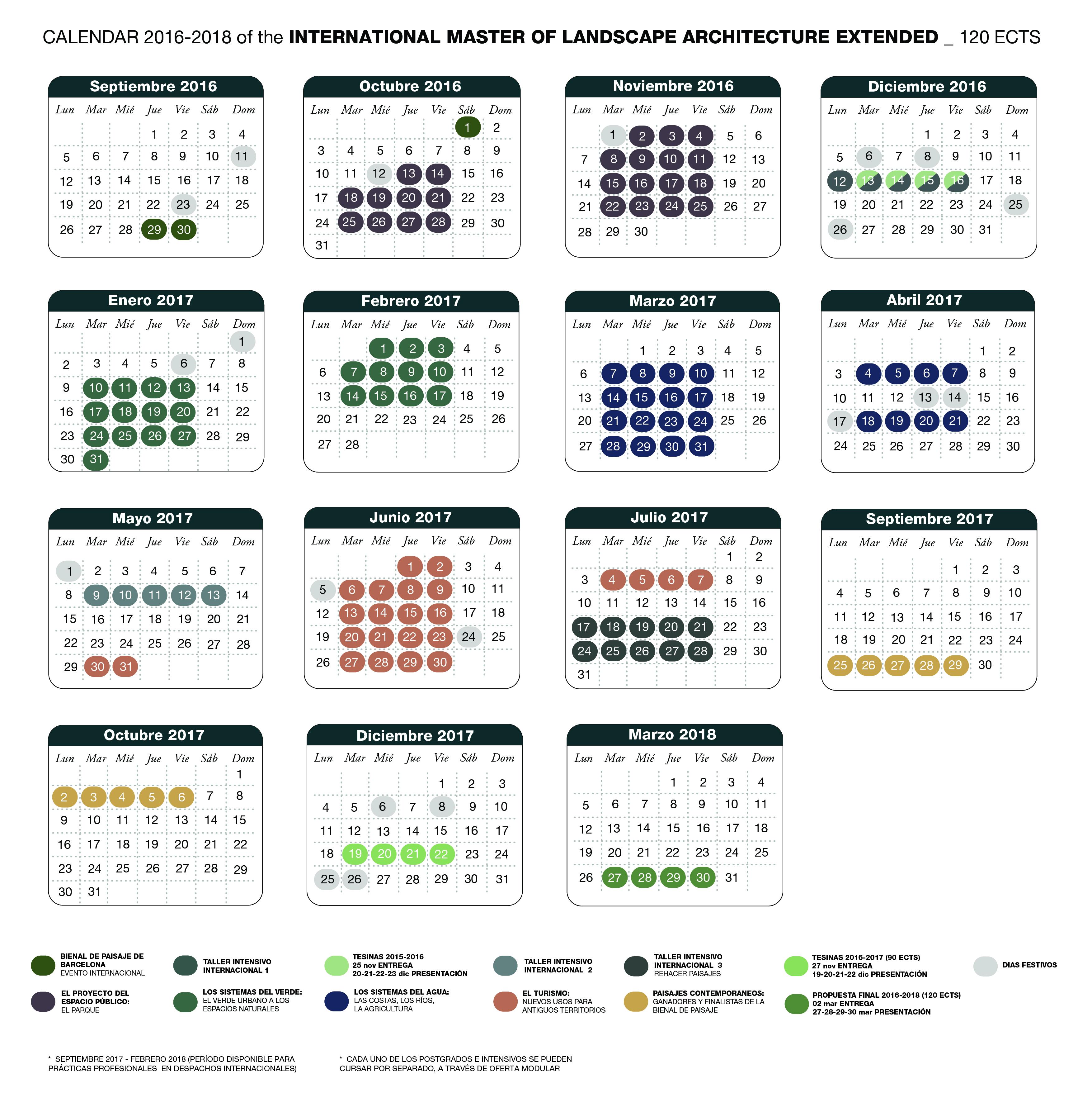 calendari map general 2016-2018 120 ECTS